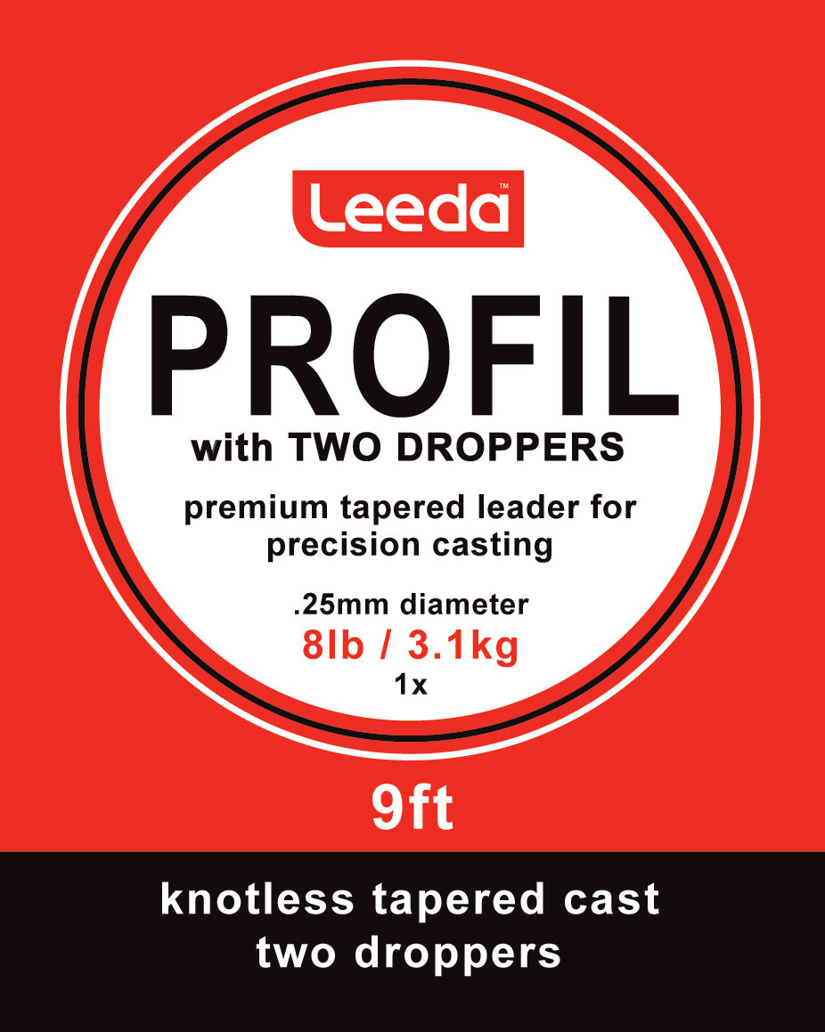 Leeda Profil 9ft Tapered Wetfly Casts w// 2 Droppers*All Sizes*Fly Fishing Trout
