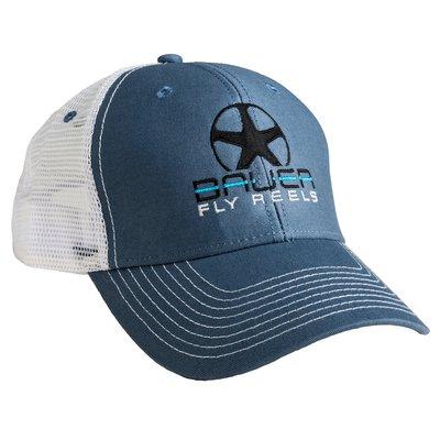 Bauer Logo Trucker Cap Steel Blue/White