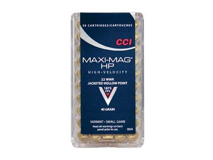 CCI .22 WMR HS Maxi Mag 40 Grain  Copper Hollow Point (50