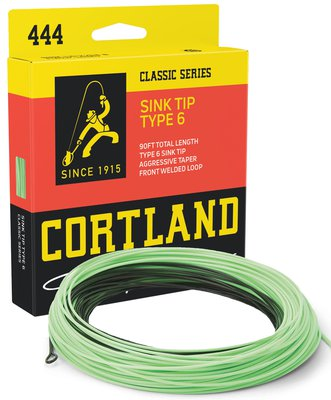 Cortland Classic Series 444 Type 6 Sink Tip Fly Lines - Black/Mint Green