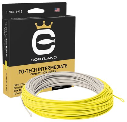 Cortland Competition Fo-Tech Intermediate Floating Fly Lines  - Smoke/Yellow