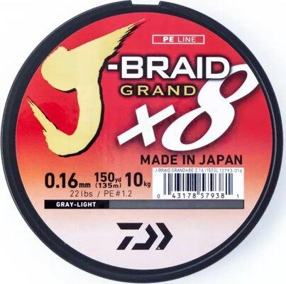 Daiwa J-Braid Grand 135m Grey