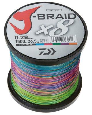 Daiwa J-Braid X8 Multi Colour
