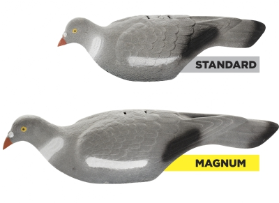 Decoy Magnum Pigeon Shell Decoy Flocked with Peg