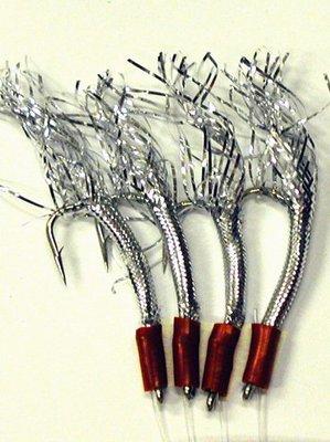 Dennett Silver Flash 4 Hook Tinsel Feather Rig
