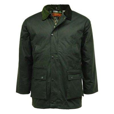 Game Waxed Cotton Padded Jacket Olive