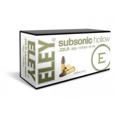 Eley .22 LR Subsonic 38 Grain Hollow Point