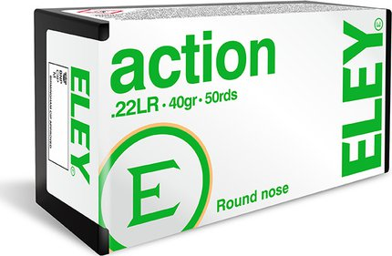 Eley Action .22 LR 40 Grain Subsonic Round Nose