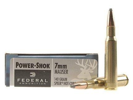 Federal Power-Shok 7 x 57 Mauser 140 Grain Speer Hot-Cor Soft Point (20)