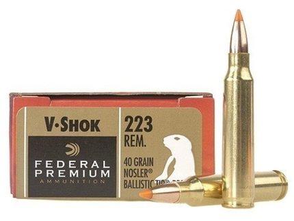 Federal Vital-Shok .223 Rem 40 Grain Ballistic Tip (20)