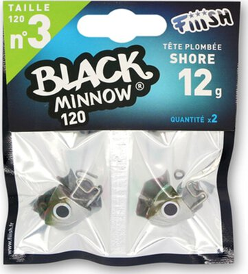 Fiiish Black Minnow Jig Heads 2pc