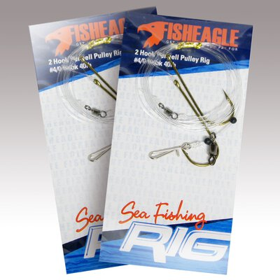Fisheagle 2 Hook Pennell Pulley Rig #4/0 Hook 40lb