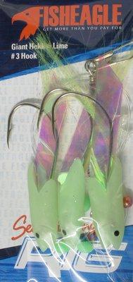 Fisheagle Giant Hokkai Lime 3 Hook