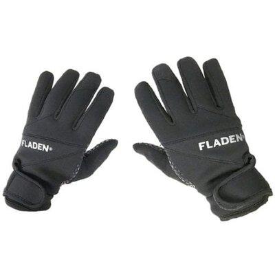 Fladen 2.5mm Black Neoprene Extra-Grip Gloves