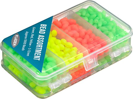 Fladen Boxed Green, Red & Yellow 5-12mm Bead Assorted Approx 1000pcs