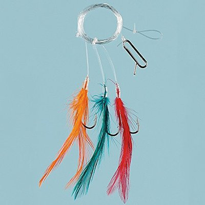 Fladen Coloured Feather Hooks 6pc