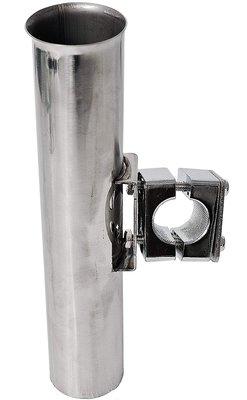 Fladen Single Upright Metal Tube Rod Holder 24.5 x 4.5cm Rail Mount