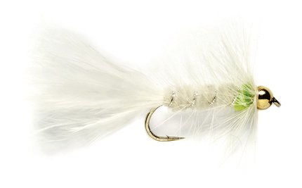 Fulling Mill Wooly Bugger White & Green (Gold Nugget)