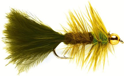 Fulling Mill Wooly Bugger Olive & Green (Gold Nugget)