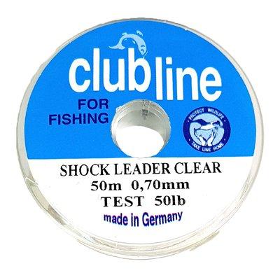 Fog Clubline Shock Leader 50lb 50m