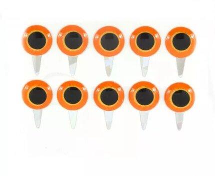 Funky Tab Eyes Hot Orange/Yellow 10pc