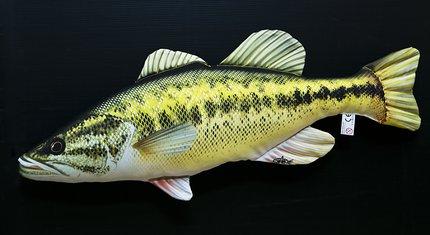 Gaby Black Bass Fish Pillow