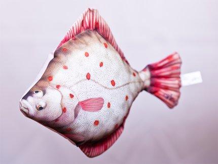 Gaby Flounder Fish Pillow
