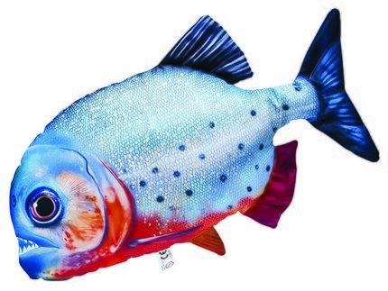 Gaby Red-Bellied Piranha Pillow 47cm