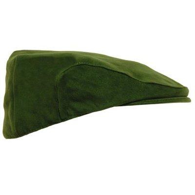 Game Mens Olive Green Moleskin Flat Cap