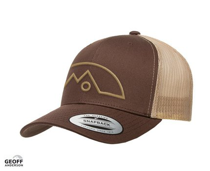 Geoff Anderson Snapback FLEX Cap 3D Embroidered Logo Brown