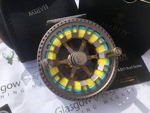 Preloved Hardy Ultralite 8000 #8/9/10 CA DD Titanium Salmon Fly Reel (Boxed) - Excellent