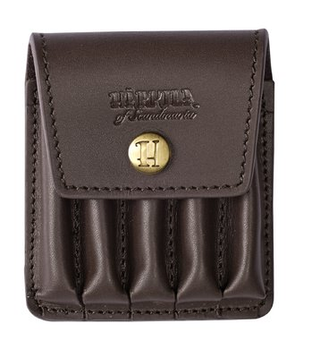 Harkila Rifle cartridge cover in leather Brown f/5 bullets
