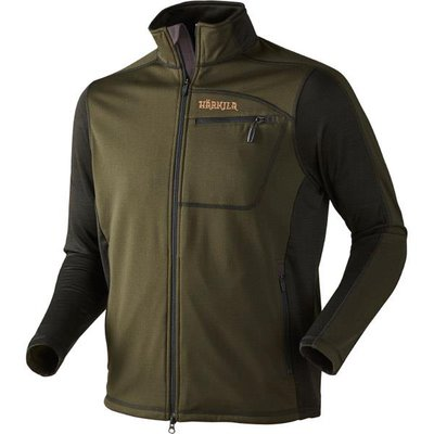 Harkila Vestmar Hybrid Fleece Jacket Rifle Green Melange