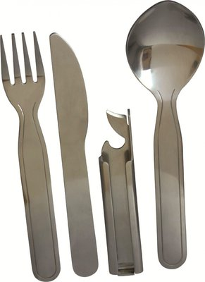 Highlander Military Style Kfs Set Camping Cutlery