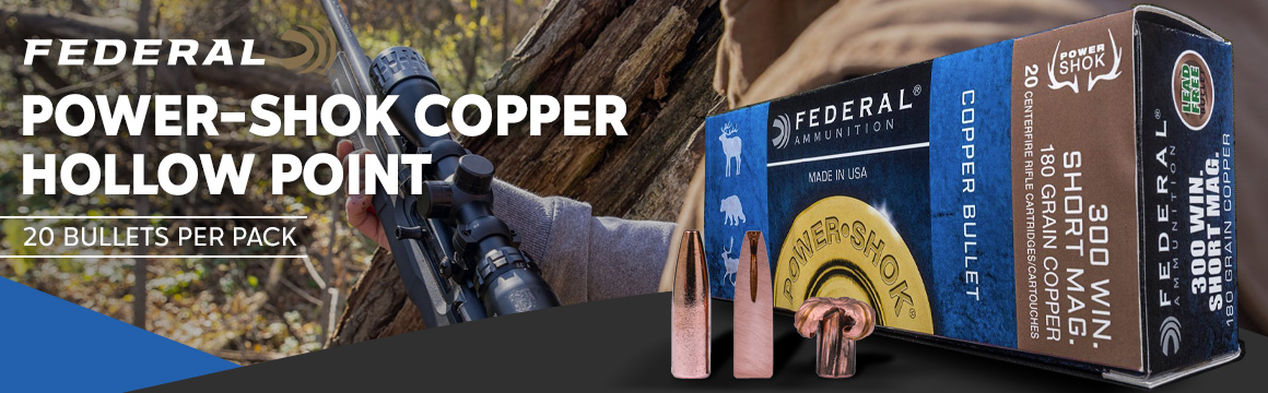 federal power shok copper hollow point 20 pack
