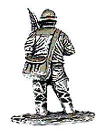 Just Fish Pewter Fisherman Lapel Pin