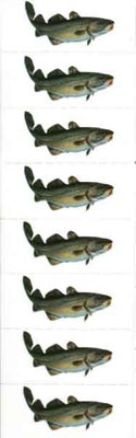 Just Fish Sticker Cod 3cm