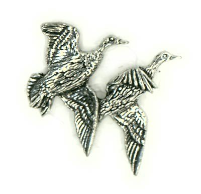 Just Fish Ducks in flight Pewter Lapel Pin