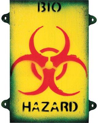 Kombat Bio Hazard Sign 8in x 10in