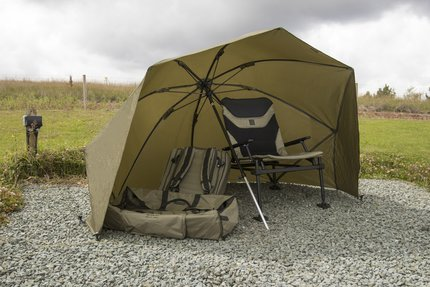 Korum 50in Graphite Brolly Shelter