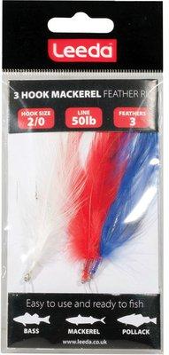 Leeda 3 Hook Mackerel Feather Trace