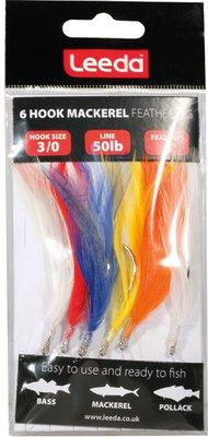 Leeda 6 Hook Mackerel Feather Trace