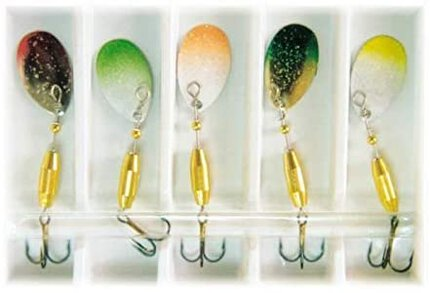 Lineaeffe 5 Assorted Coloured 2.5g Trout Spinners