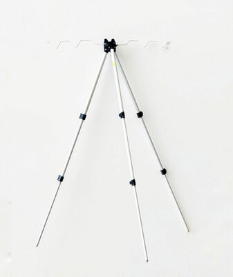Lineaeffe Aluminium Folding Adjustable Tripod / Fishing Rod Rest 120cm
