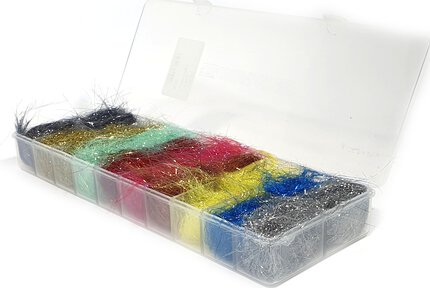 Lureflash Flash Bright 10 Colours Selection + Dubbin Box