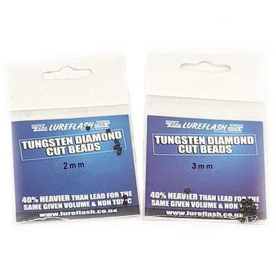 Lureflash Tungsten Diamond Cut Beads 10pc