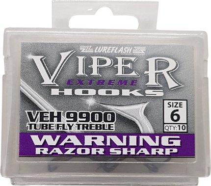 Lureflash Viper Extreme Tube Treble Hooks