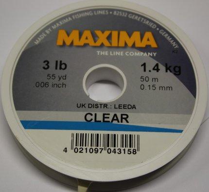 Maxima Clear Monofilament 50m