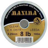 Maxima Clear Monofilament 100m Spools