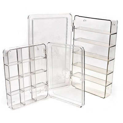 Myran Clear Compartment Boxes